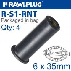 RAWLNUT M6X35MM X4-BAG