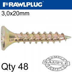 R-TS HARDENED SCREW 3.0X20MM X48 PER BAG