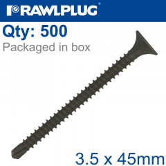 SELF DRILLING DRYWALL SCREW 3.5MMX45MM X500-BOX