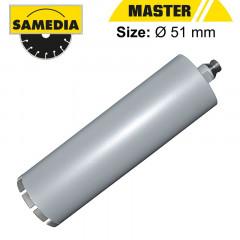 DIAMOND CORE DRILL 51MM X 300 X R1/2' RE-INF. CONCRETE MASTER DBH