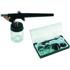 AIR BRUSH KIT WITH 2 BOWLS AND HOSE