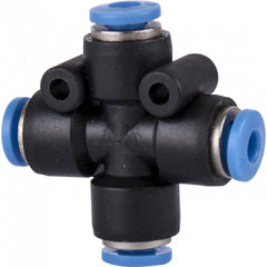 PU HOSE FITTING 4 WAY CONNECTOR 4MM
