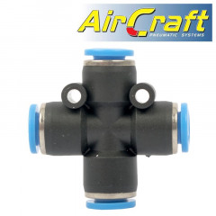PU HOSE FITTING 4 WAY CONNECTOR 6MM