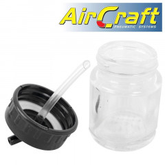 GLASS JAR WITH 22CC 45 DEG SPOUT FOR  AIRBRUSH