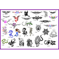 BOOK 05 TATTOO STENCILS 30 DESIGNS 1 DESIGN ON EACH A4 SHEET