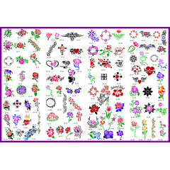 BOOK 10 TATTOO STENCILS 100 DESIGNS PER BOOK 4 DESIGNS ON EA A4 SHEET