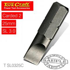 S/D INSERT BIT 3MMX25MM 2/CARD