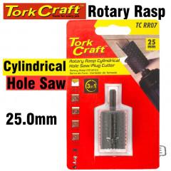 3 IN 1 ROTARY RASP CYL. / HOLE SAW / PLUG CUTTER 25MM X 35MM