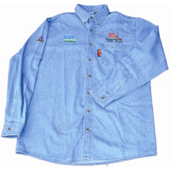 VERMONT MENS LONG SLEEVED DENIM SHIRT STONE WASHED SMALL