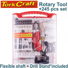 ROTARY TOOL 170W ACCESSORY SET 245PC WITH STAND AND FLEX SHAFT