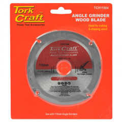 BLADE 4 TEETH 115MM X 22.23MM FOR WOOD ON ANGLE GRINDER