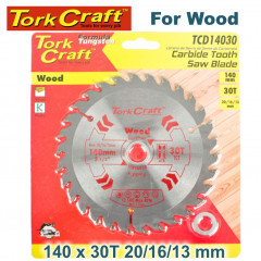 BLADE TCT 140 X 30T 20/16/13 GENERAL PURPOSE COMBINATION WOOD
