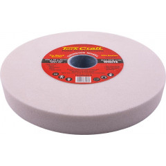GRINDING WHEEL 200X25X32MM BORE FINE 60GR W/BUSHES FOR B/G WHITE