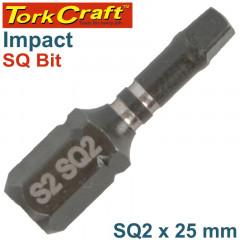 IMPACT SQUARE RECESS BIT NO.2 X 25MM - BULK