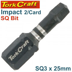 IMPACT SQUARE RECESS INS.BIT NO.3X25MM 2/CARD