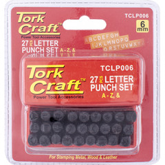 LETTER PUNCH SET 6MM A-Z BLACK FINISH