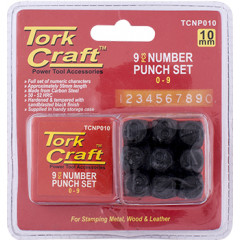 NUMBER PUNCH SET 10MM (0-9MM) BLACK FINISH