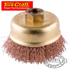WIRE CUP BRUSH NON SPARKING CRIMPED WIRE 100MMXM14 BULK