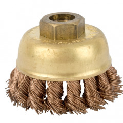 WIRE CUP BRUSH N/SPARK TWISTED 65MMXM14 BULK