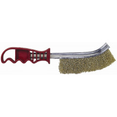 WIRE HAND BRUSH RUST RESISTANT BRASS COATED STEEL WIRE