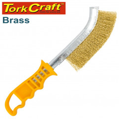 WIRE HAND BRUSH BRASS