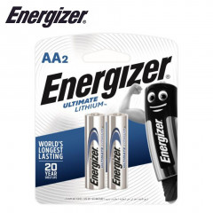 ENERGIZER ULTIMATE LITHIUM:  AA - 2 PACK (MOQ6)